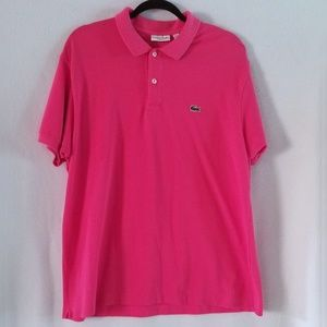 Lacoste Hot Pink Short Sleeve Polo Shirt